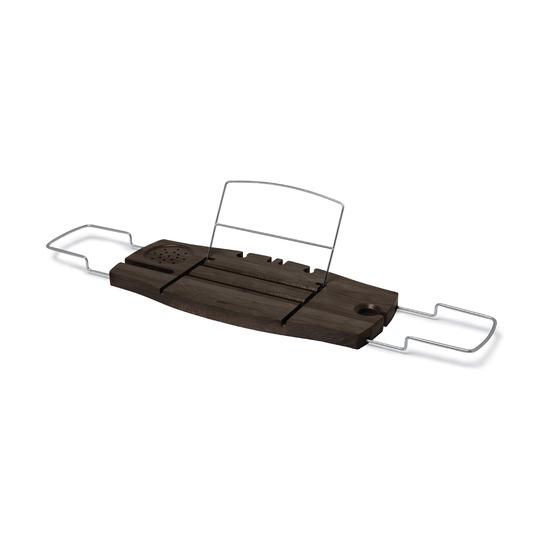 Полка для ванны Aquala, орех, с подставкой для телефона