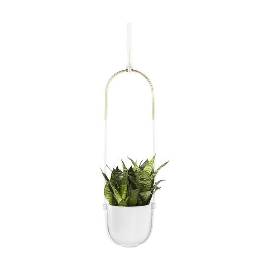 Горшок для растений подвесной, белый