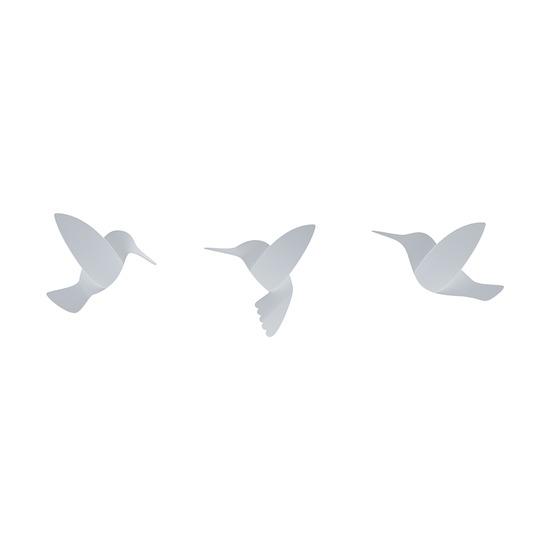 Декор для стен Hummingbird, белый, 9 шт.