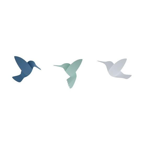 Декор для стен Hummingbird, разноцветный, 9 шт.