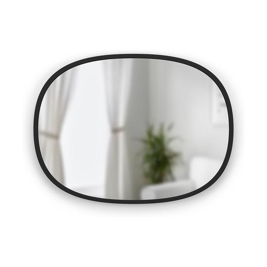 Зеркало овальное Hub, черное, 45 х 60 см