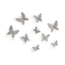 Декор для стен Mariposa, серый, 9 шт.