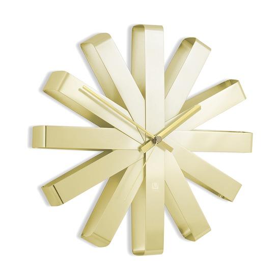 Часы настенные Ribbon, латунь