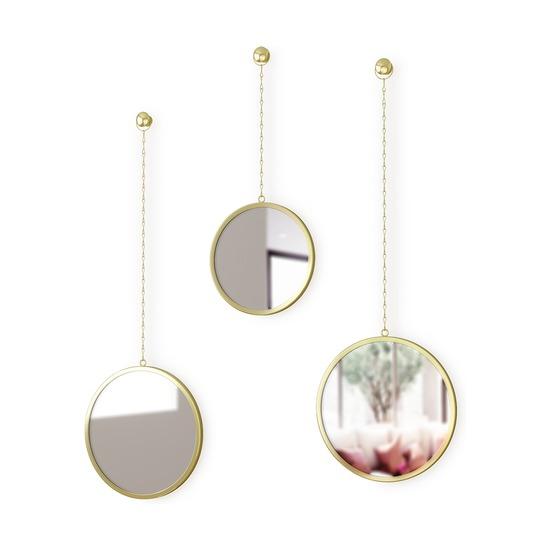 Зеркала декоративные Dima, круглые, латунь