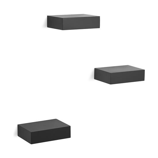Набор из 3 полок Showcase, черный