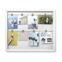 Панно с зажимами для фотографий Clipline, белое