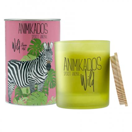 Свеча ароматическая Ambientair Zebra Wild Цветочный, 40 ч