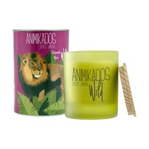 Свеча ароматическая Animikados Wild Savannah Wood, 40 ч