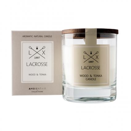 Свеча ароматическая Lacrosse Дерево и тонка, круглая, 40 ч