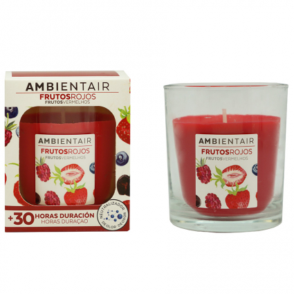 Свеча ароматическая Ambientair Красные фрукты, 30 ч