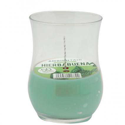 Свеча ароматическая ветроустойчивая Ambientair Garden Мята, 50 ч
