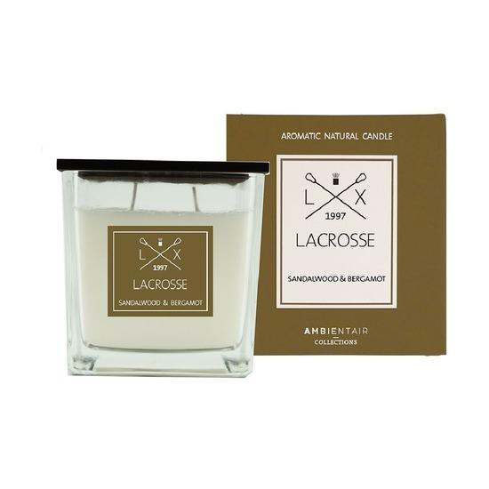 Свеча ароматическая Lacrosse Сандал и бергамот, квадратная, 60 ч