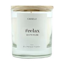 Свеча ароматическая The Olphactory Relax Белый Мускус, 40 ч