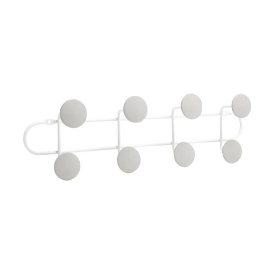 Вешалка надверная Yook на 8 крючков, белый-серый