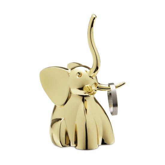Подставка для колец Zoola, слон, латунь