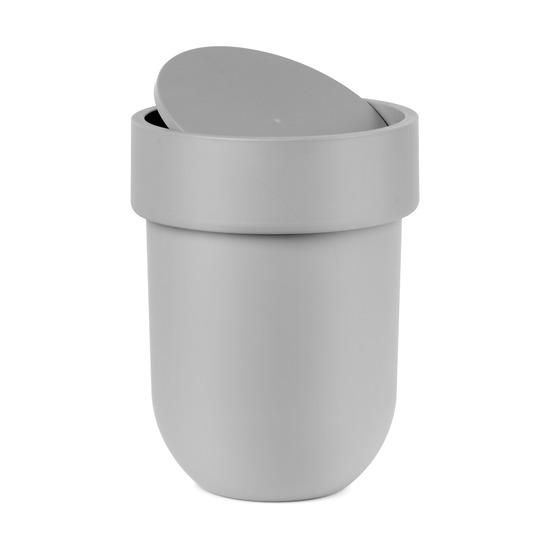 Контейнер мусорный Touch, с крышкой серый