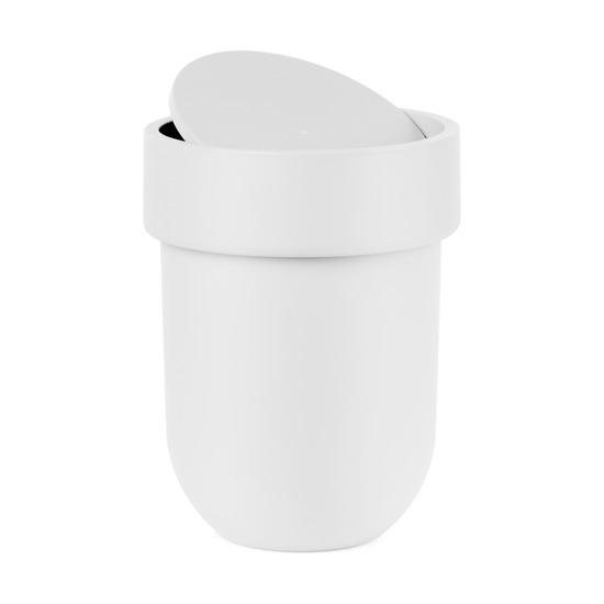 Контейнер мусорный Touch, с крышкой белый