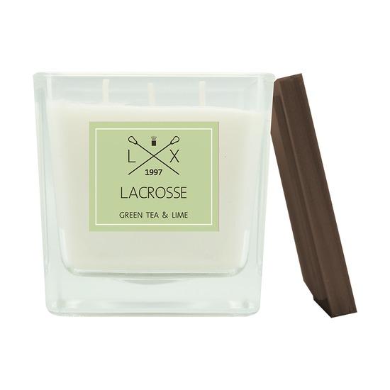 Свеча ароматическая Lacrosse Зеленый чай и Лайм, квадратная, 60 ч