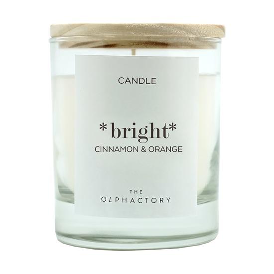 Свеча ароматическая The Olphactory Bright, Корица и Апельсин, 40 ч