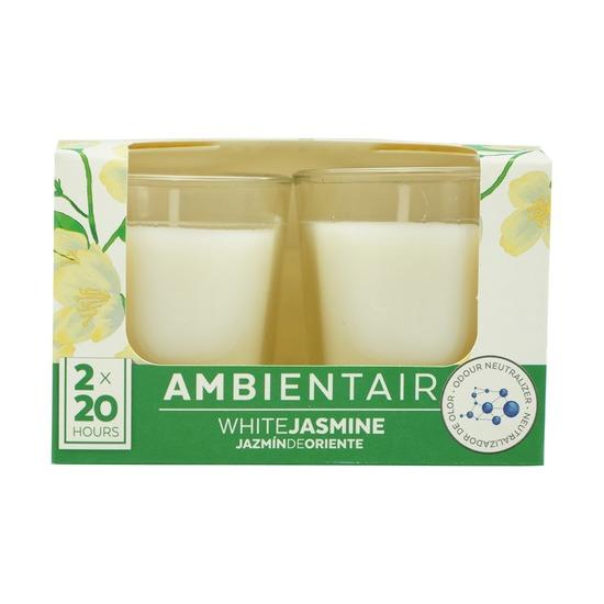 Набор из 2 ароматических свечей Ambientair, Белый жасмин, 20 ч