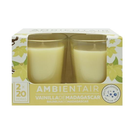 Набор из 2 ароматических свечей Ambientair, Мадагаскарская ваниль, 20 ч