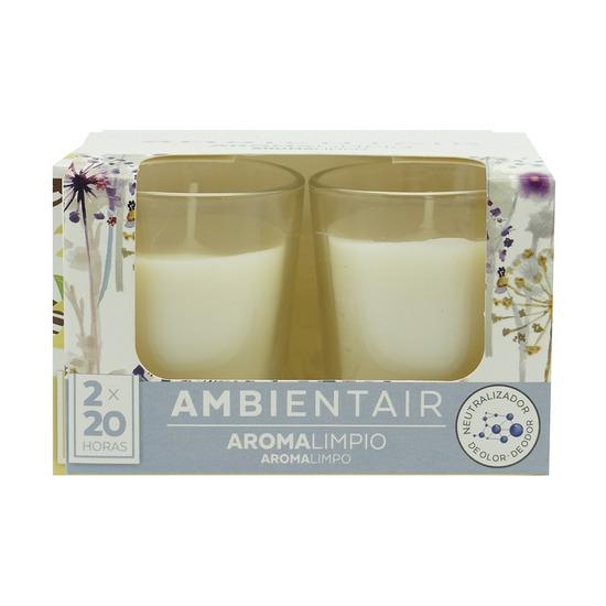 Набор из 2 ароматических свечей Ambientair Благоухание хлопка, 20 ч