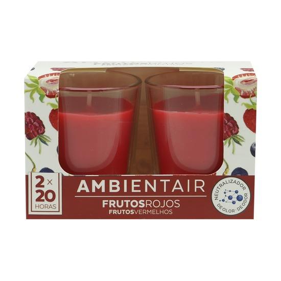 Набор из 2 ароматических свечей Ambientair Красные фрукты, 20 ч
