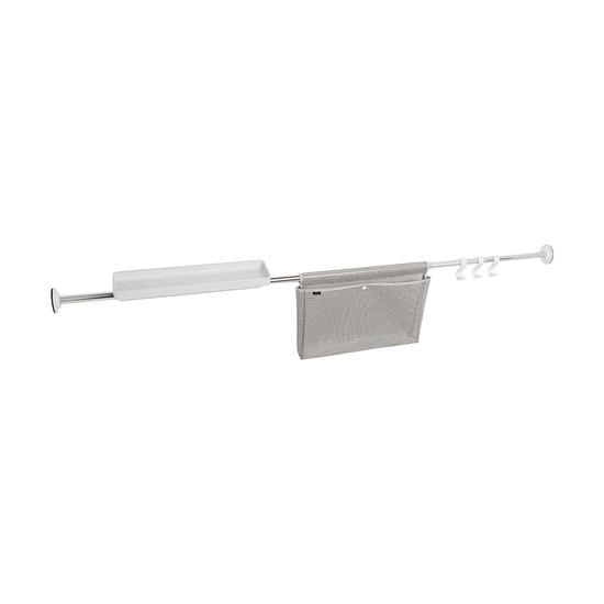 Карниз-органайзер для ванной, раздвижной, хром