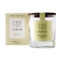 Свеча ароматическая Lacrosse Белый мускус, круглая, 40 ч