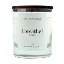 Свеча ароматическая The Olphactory Breathe Black Кислород, 40 ч