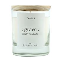 Свеча ароматическая The Olphactory Grace Мята и базилик, 40 ч