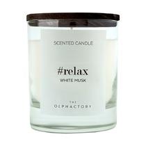 Свеча ароматическая The Olphactory Relax Black Белый мускус, 40 ч