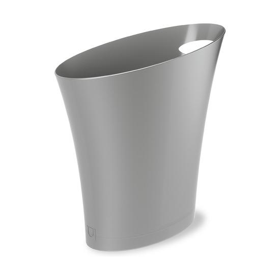 Контейнер мусорный Skinny, серебристый