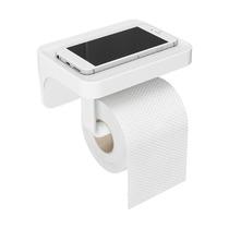 Держатель для туалетной бумаги с полочкой Flex, белый