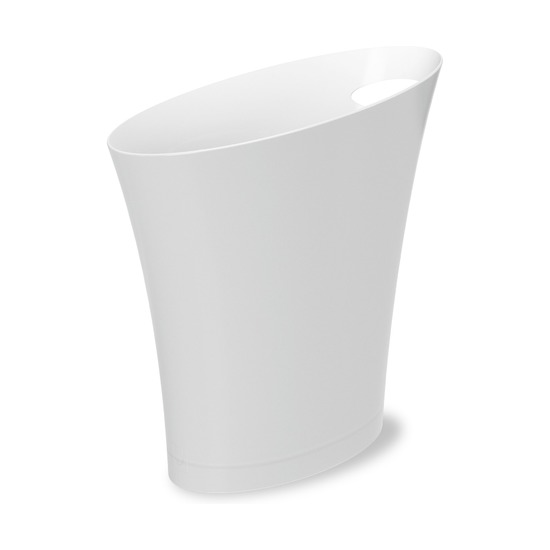 Контейнер мусорный Skinny, белый