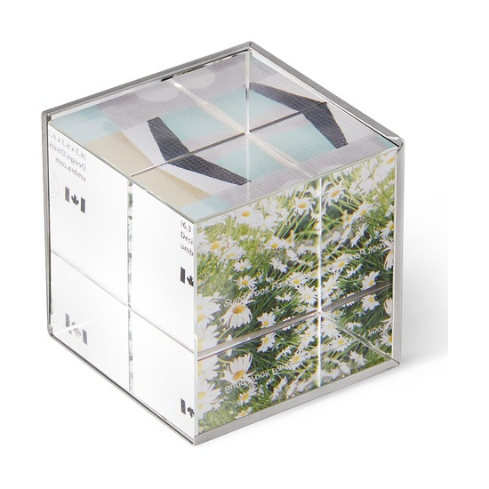Фоторамка-куб Ice Frame, никель