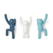 Вешалки-крючки Buddy, 3 шт, blu dual