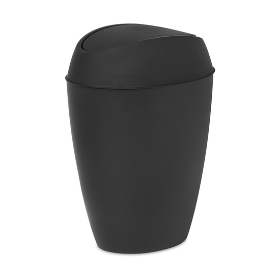 Корзина для мусора с крышкой Twirla, 9 л, черная