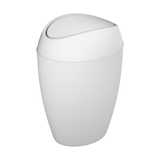 Корзина для мусора с крышкой Twirla, 9 л, белая