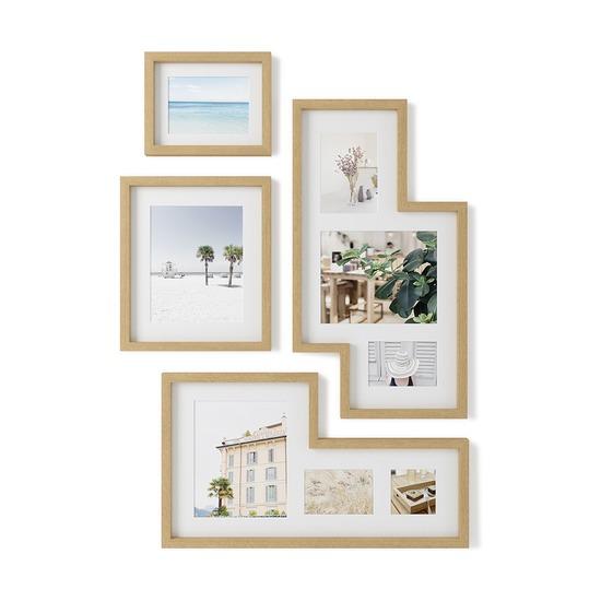Набор из 4 фоторамок Mingle Gallery, дерево