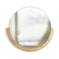 Настенное зеркало Mira, 82 см, натуральное дерево