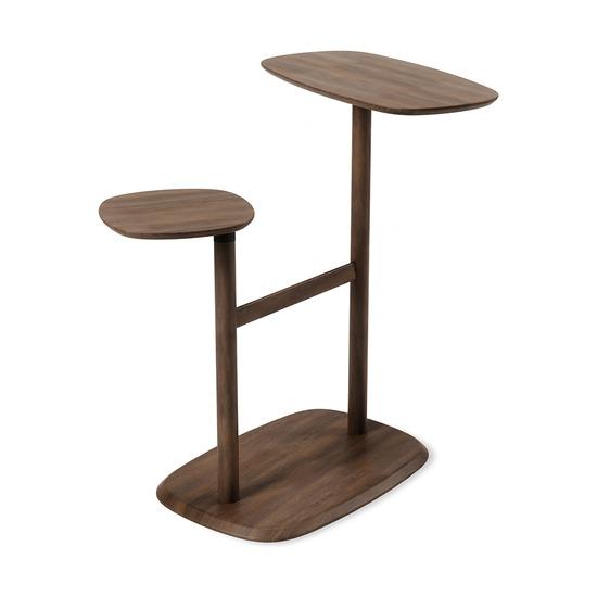 Столик приставной Swivo, черный-орех