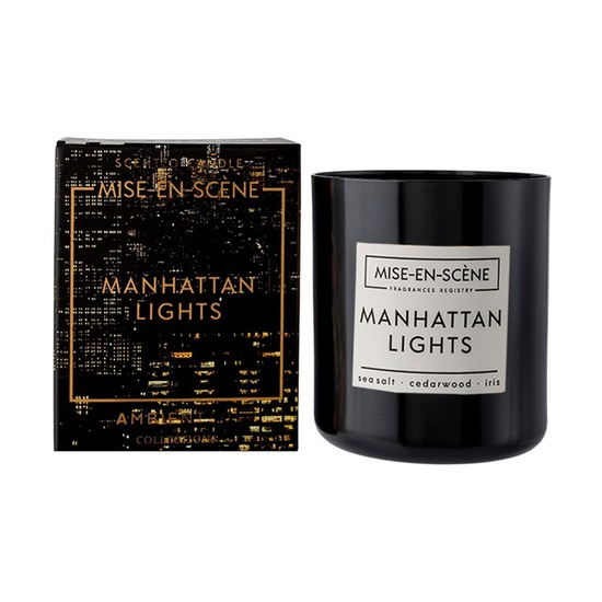 Свеча ароматическая Mise En Scene Manhattan Lights, 50 ч, черная
