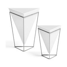 Декор настольный Trigg, белый-никель