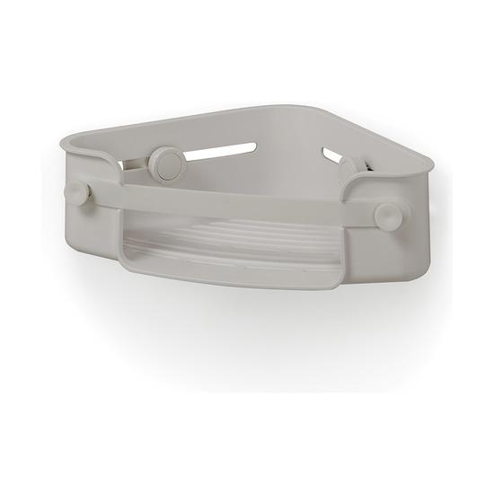 Органайзер для ванной Flex Gel-lock угловой, серый