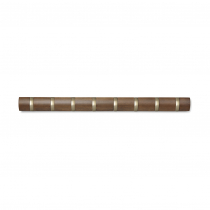 Вешалка настенная горизонтальная Flip, 8 крючков, коричневая
