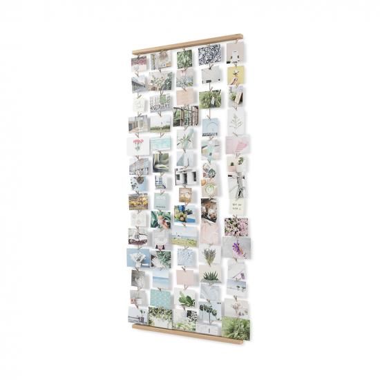 Панно с зажимами для 80 фотографий Hangit, дерево