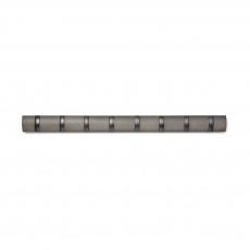 Вешалка настенная горизонтальная Flip, 8 крючков, серая, олово