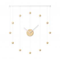 Часы Hangtime, белые/натуральное дерево