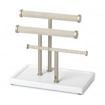 Держатель для серег и браслетов Trigem, белый/никель